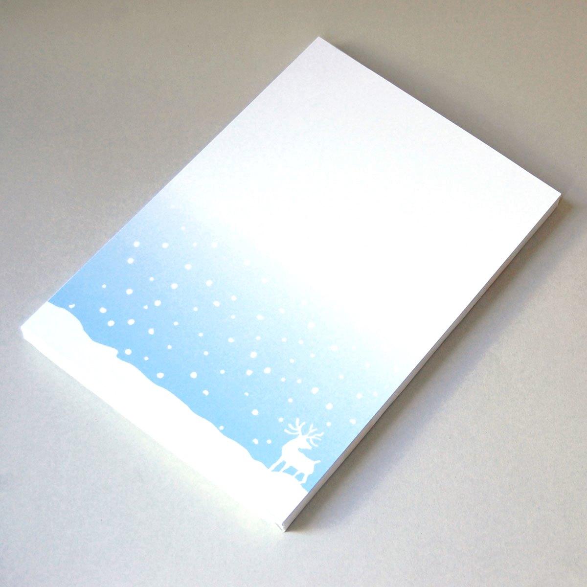 design weihnachts briefpapier grit may wolff elch. Black Bedroom Furniture Sets. Home Design Ideas