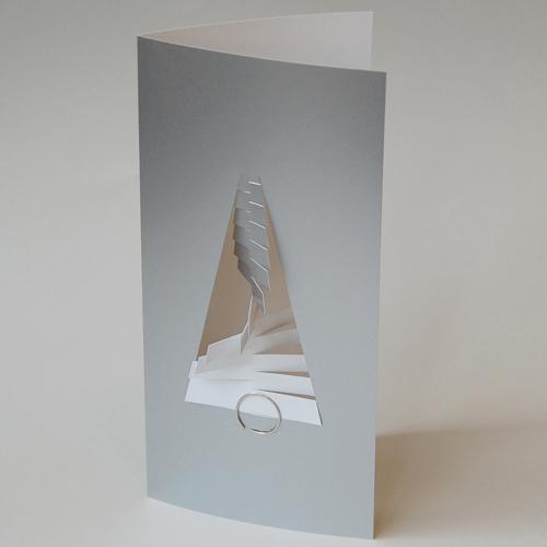 Silberne design weihnachtskarten mit b roklammer spiral - Designer weihnachtskarten ...