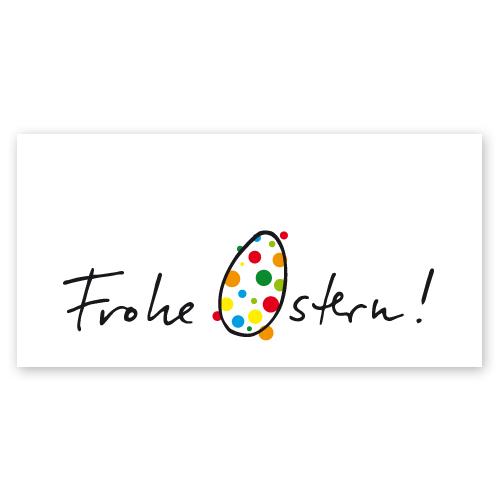 Frohe Ostern Karte.Designer Osterkarten Mit Frohe Ostern