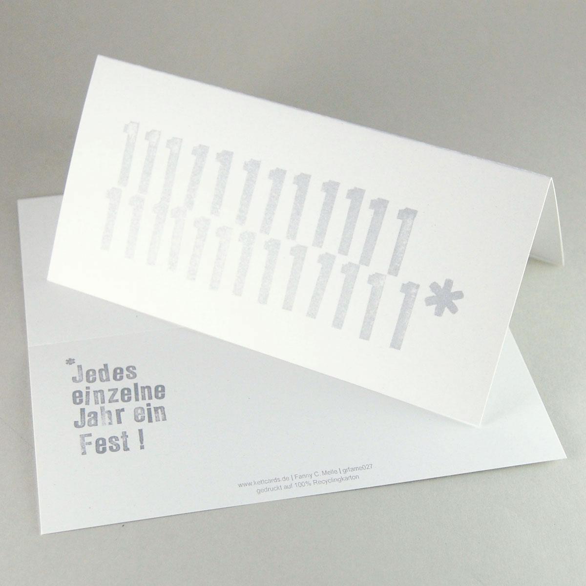 glückwunschkarten / einladungskarten zum 25. - jubiläum