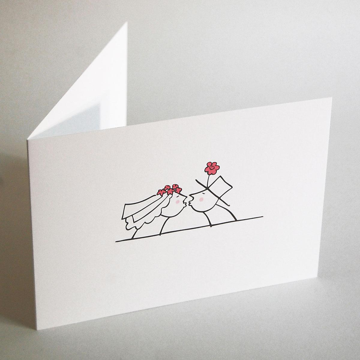 romantische hochzeitseinladungen mit k ssendem brautpaar. Black Bedroom Furniture Sets. Home Design Ideas