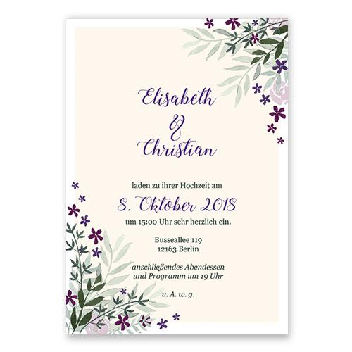 Individuelle Hochzeitskarten Mit Handlettering