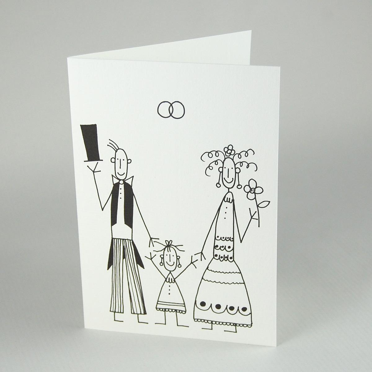 Schön Hochzeitskarten Von Franz Basdera: Hochzeit Mit Kind