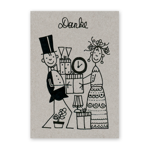 Witzige Hochzeitskarten Franz Basdera Danke Fur Die Vielen