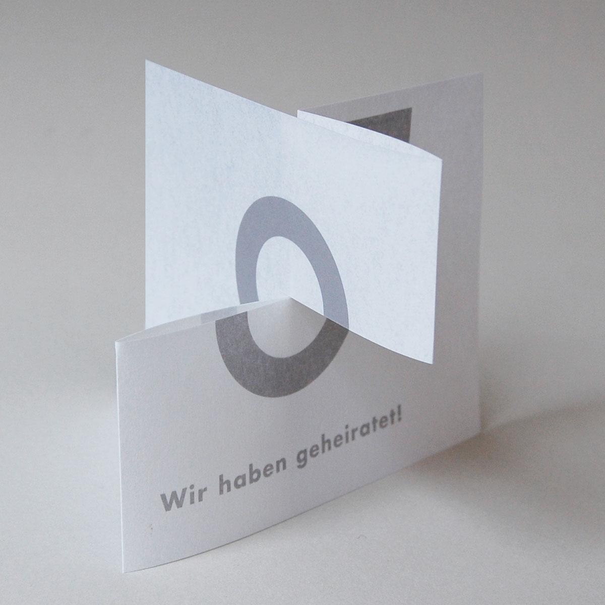 Designer-Hochzeitskarten: Wir haben geheiratet!