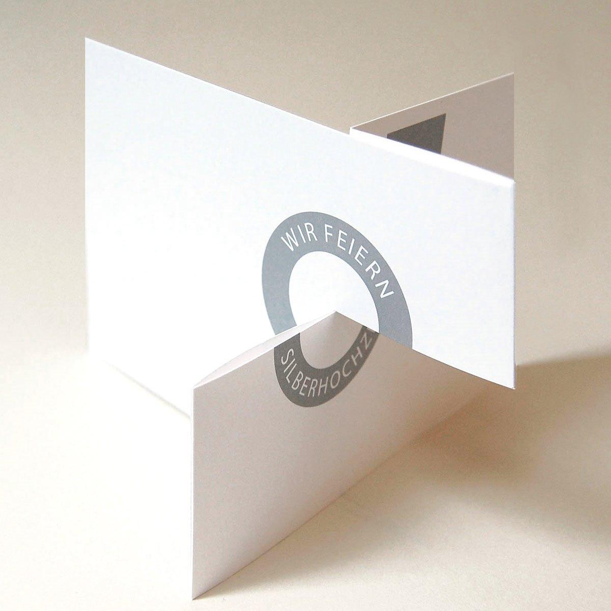 Einladungskarten zur Silberhochzeit von Michael Marschall