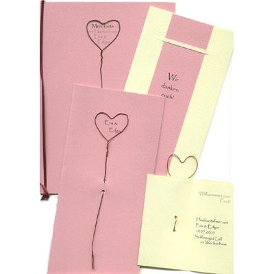 Individuelle Hochzeitskarten Mit Dem Namen Des Brautpaares Kupferherz