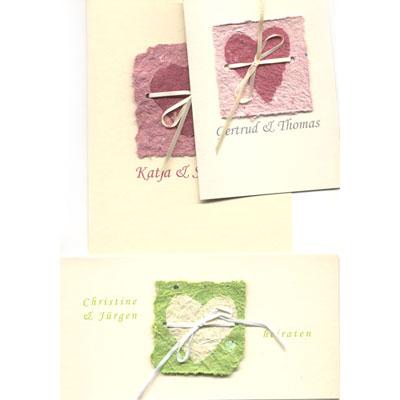 Handgefertigte Hochzeitskarten Mit Ihrem Namen
