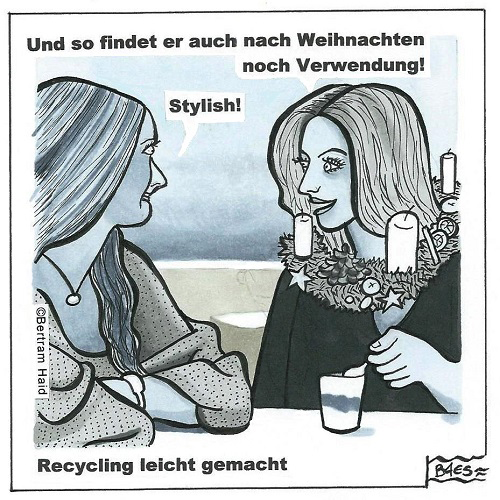 Upcycling, Einzelbildcartoons