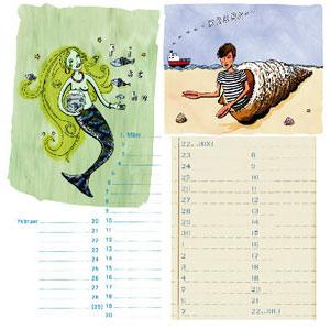 tolle geschenke fische und krebs immerw hrender sternzeichenkalender. Black Bedroom Furniture Sets. Home Design Ideas