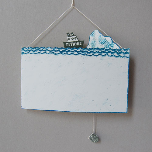 kunst aus papier martin graf der untergang der titanic bastelbogen. Black Bedroom Furniture Sets. Home Design Ideas