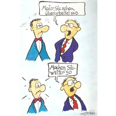 Cartoon Richard Schob Buroalltag