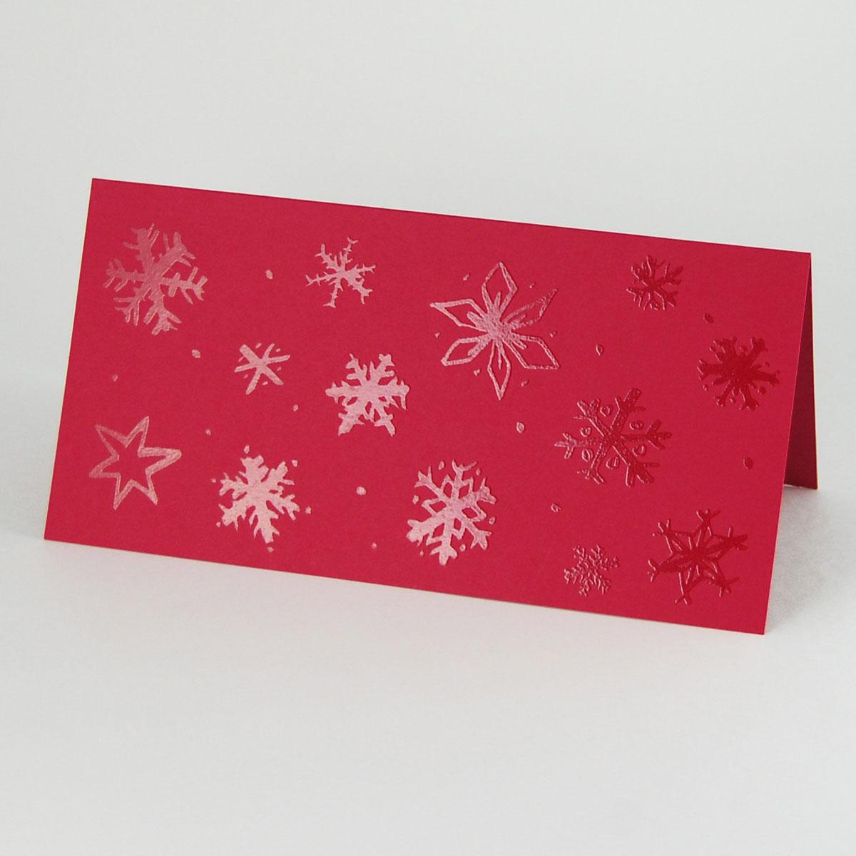 Rote Weihnachtskarten.Rote Weihnachtskarten Mit Uv Relief Lack Design
