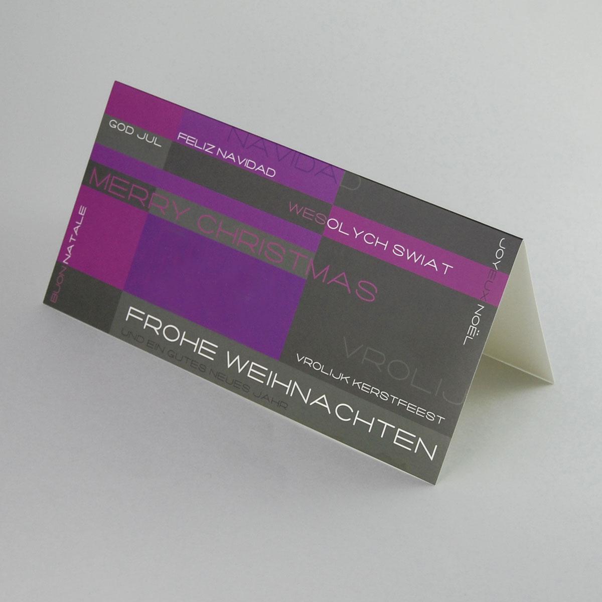 weihnachtskarten mit internationalen gl ckw nschen astrid. Black Bedroom Furniture Sets. Home Design Ideas