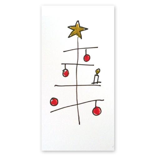 weihnachtskarten weihnachtsbaum mit einer kerze drei. Black Bedroom Furniture Sets. Home Design Ideas