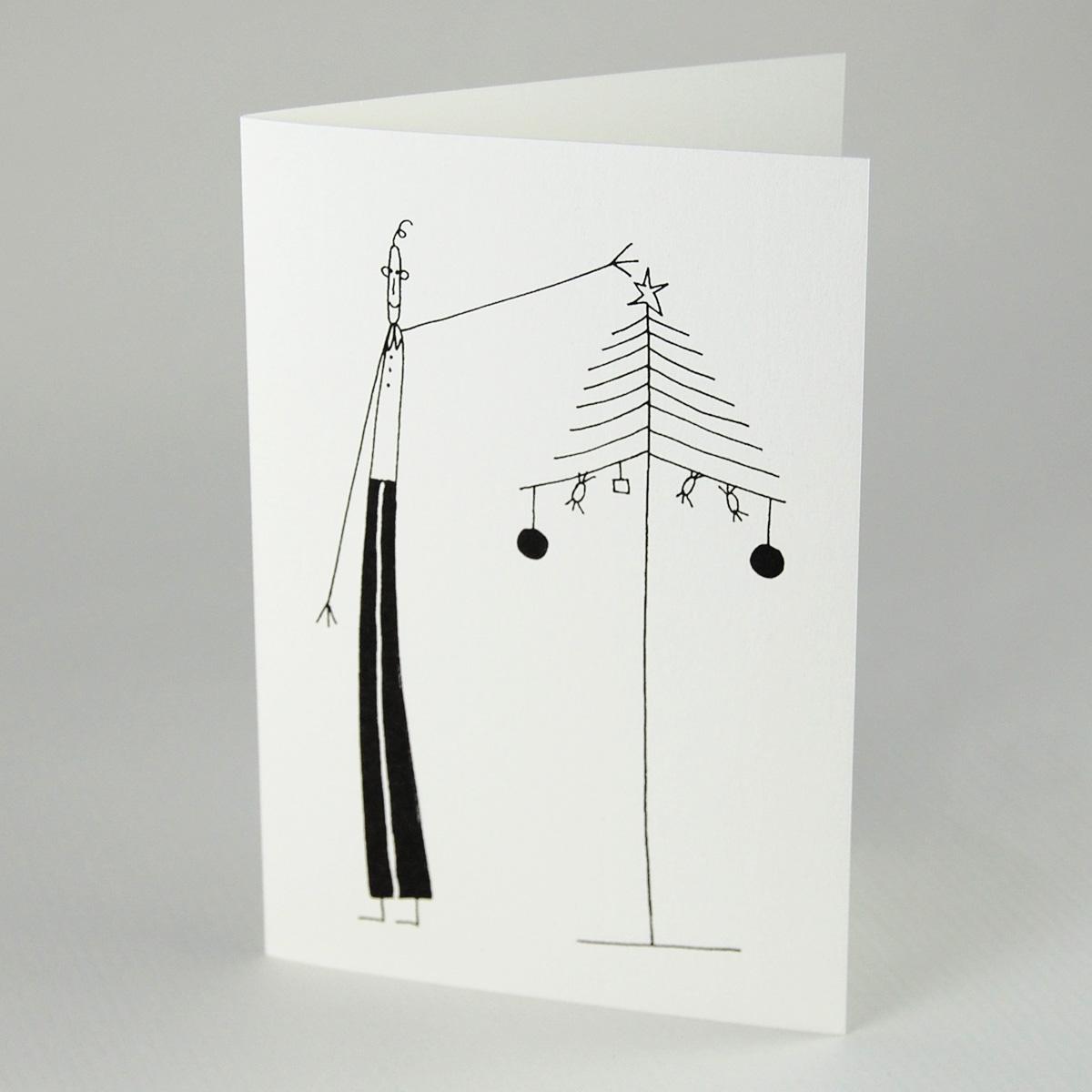 schlichte weihnachtskarten franz basdera mann mit. Black Bedroom Furniture Sets. Home Design Ideas