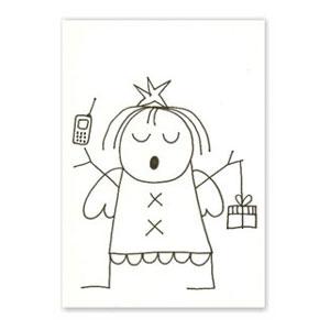 weihnachtskarten franz basdera engel mit handy. Black Bedroom Furniture Sets. Home Design Ideas