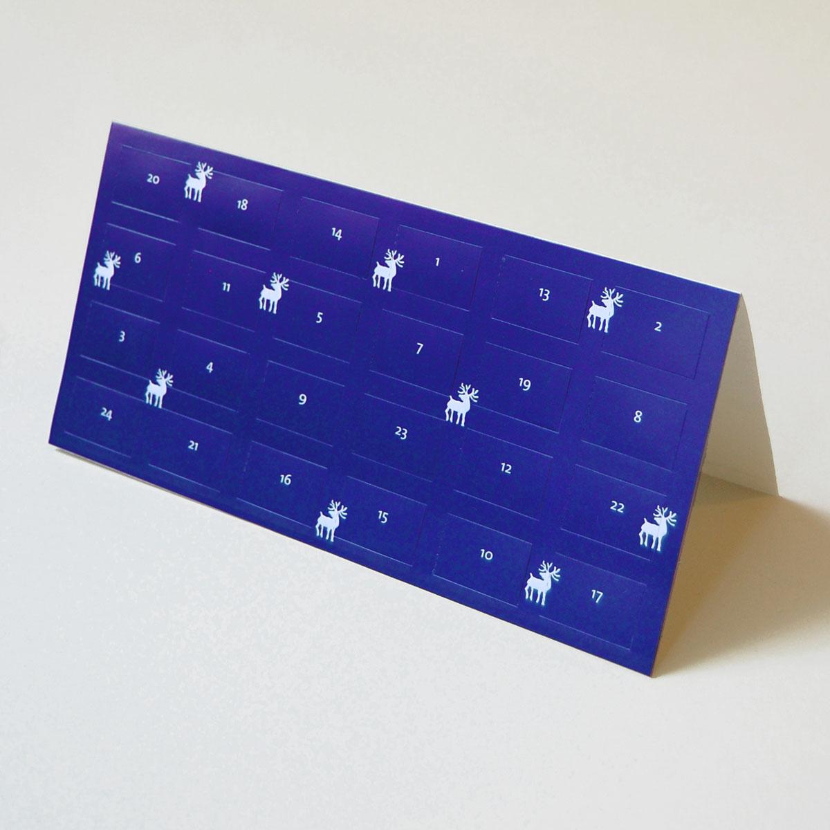 Weihnachtskalender Verschicken.Blaue Weihnachtskalender Zum Verschicken Adventskalender Mit 24