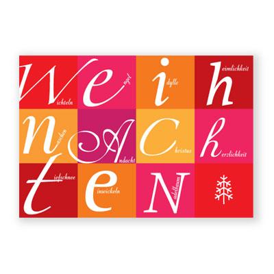 Abc Weihnachtskarten.Weihnachtskarten Weihnachtliches Abc