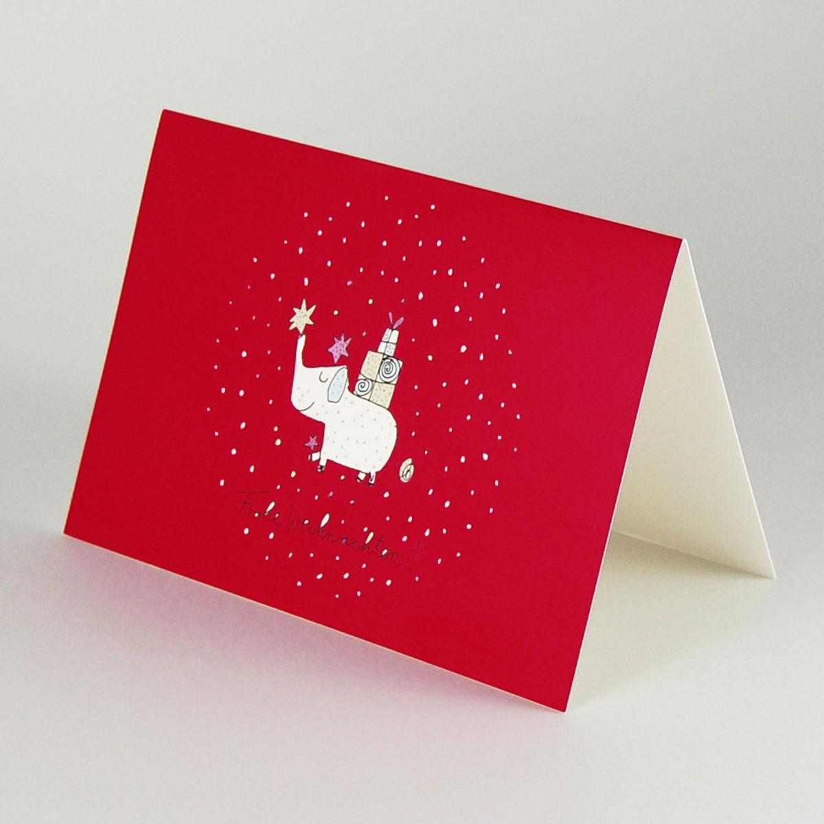 lustige weihnachtskarten mit elefanten frohe weihnachten. Black Bedroom Furniture Sets. Home Design Ideas