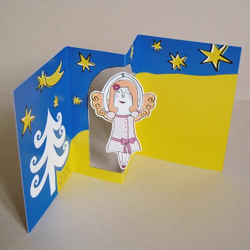 Weihnachtskarten Bedrucken.Weihnachtskarten Mit Bewegung Lizah K Tanzengel