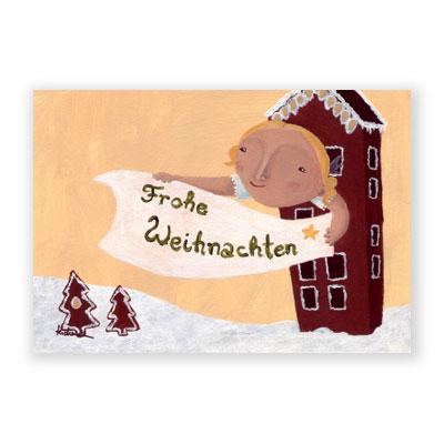 Gemalte Weihnachtskarten.Gemalte Weihnachtskarten Meike Teichmann Frohe Weihnachten