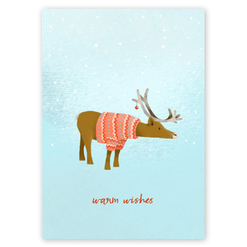 warm wishes, Christmas Cards