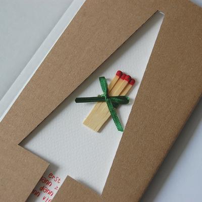 Aufw ndige advents und weihnachtskarten mit streichh lzern michael marschall erst eins dann - Originelle weihnachtskarten ...
