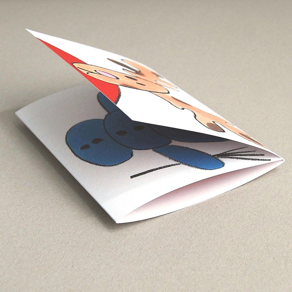 Weihnachtskarten petra h mmerleinova elch schneemann - Interaktive weihnachtskarte ...