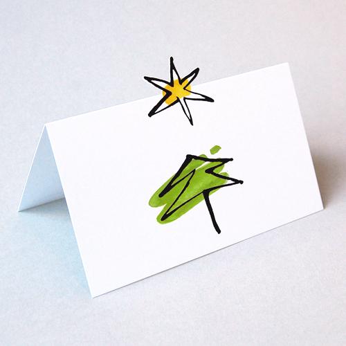 Einlegeblätter Für Weihnachtskarten.Weihnachtskarten S Jordan Baum Und Gestanzter Stern