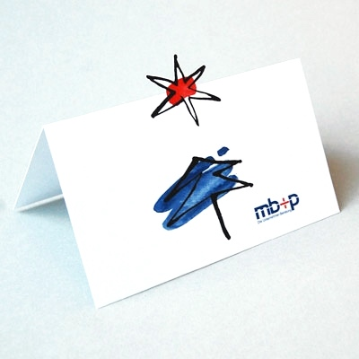 Weihnachtskarten Mit Firmenlogo.Individuelle Weihnachtskarten Mit Firmenlogo S Jordan Baum Und Stern