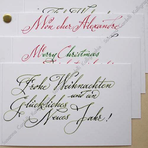 handgeschriebene weihnachtskarten susanna cardelli. Black Bedroom Furniture Sets. Home Design Ideas