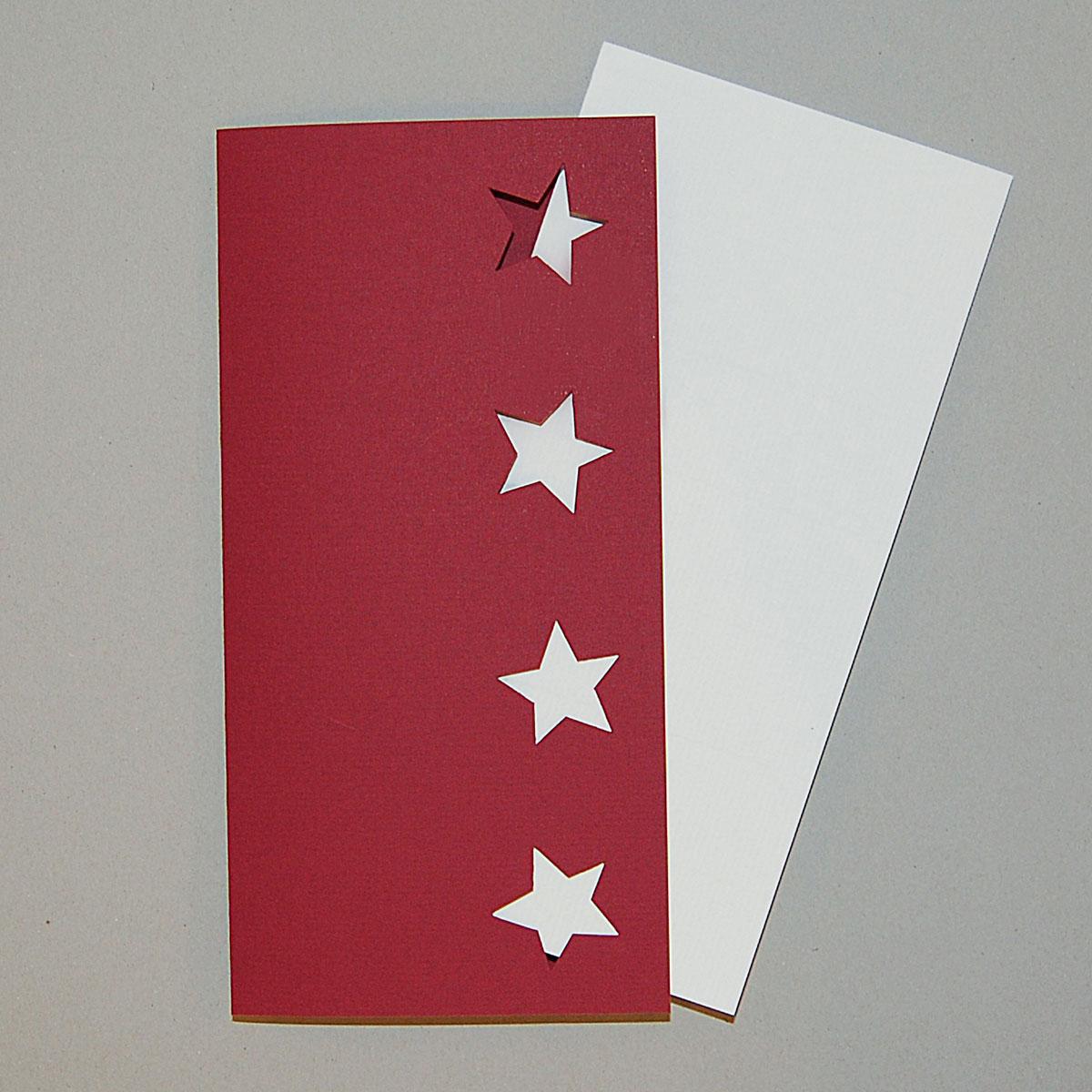 Rote Weihnachtskarten.Rote Weihnachtskarten Susanne Klotz Gestanzte Sterne