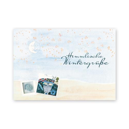 Himmlische Weihnachtsgrüße.Weihnachtskarten Mit Schneeflockenstempel Susanne Klotz Himmlische