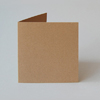 quadratische Recycling-Klappkarten in Packpapieroptik, Schoellershammer RC, brown