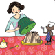 Kuchen backen, Illustrationen