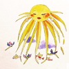 Sonne, Illustration